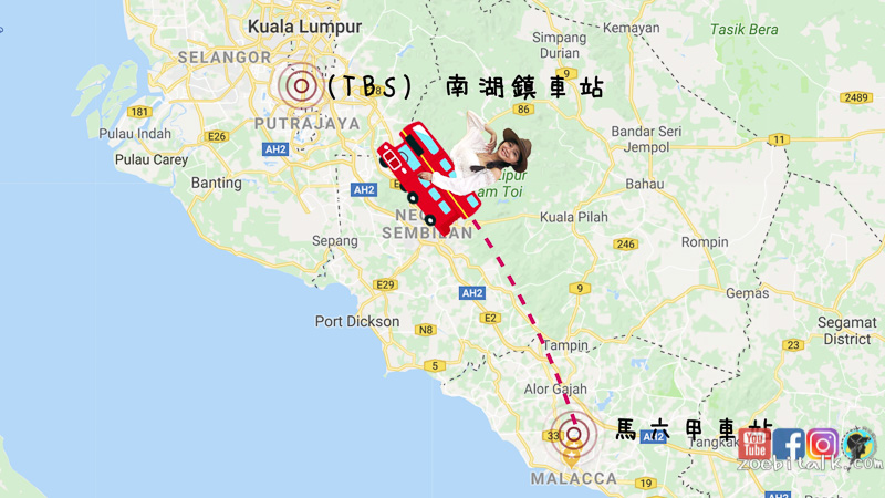 馬六甲到吉隆坡必須要在TBS轉車