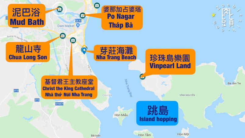 southern vietnam nha trang map 1