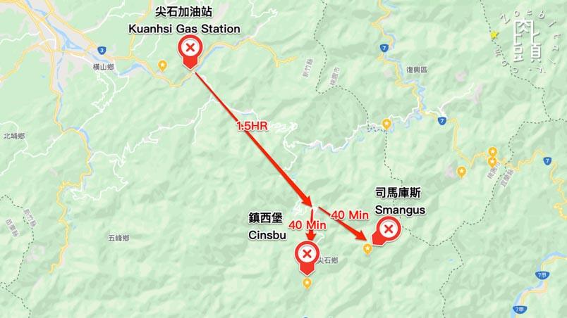 hsinchu smangus map 1